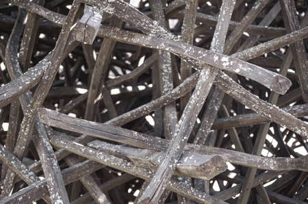 Objeto de arte de madera. Textura de primer plano de madera. Obras de arte decorativas. Foto de archivo