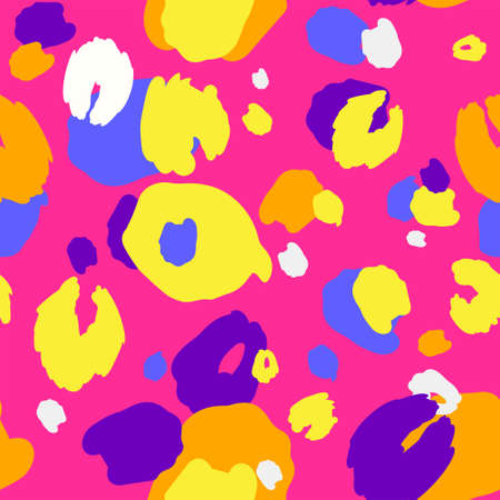 Bright trendy animal print. The texture of the skin of the animal. Bright colours. Vector EPS 10. Ilustração