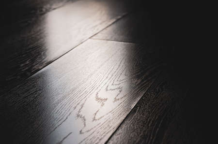 Laminate close-up. Under the tree. Floor in the apartment. Light is falling. Zdjęcie Seryjne