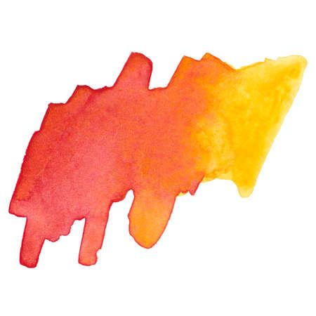 Watercolor brush stroke. Beautiful overflowing watercolor. Bright color.