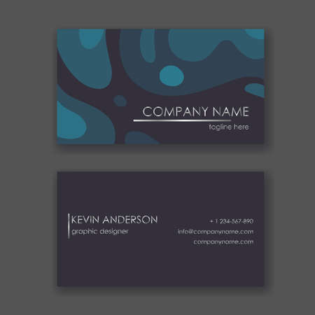Layout of business cards. Ready to print. Double sided card. Geometric design. Ilustracja