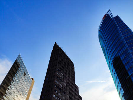 BERLIN, GERMANY - AUGUST 26, 2019 Modern architecture High buildings Office Zdjęcie Seryjne - 131575781