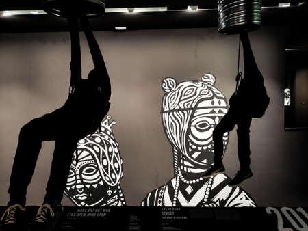 BERLIN, GERMANY - AUGUST 26, 2019. Urban nation Modern Art Street art Zdjęcie Seryjne