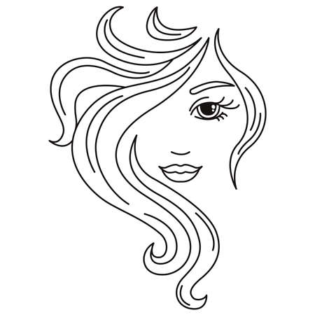 Girl logo. A smile on your face. Beauty saloon.