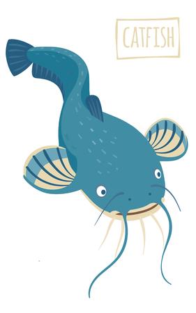 catfish: Catfish, vector cartoon illustration Illustration