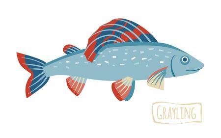 grayling: Grayling, cartoon illustration