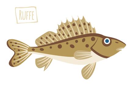 Ruffe; cartoon illustration