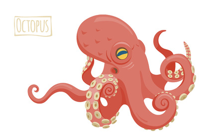 Octopus, vector cartoon illustration Ilustrace