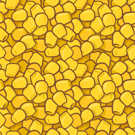 Seamless colorful vector pattern with maize kernels. Suitable for backgrounds, textile, wrapping paper.