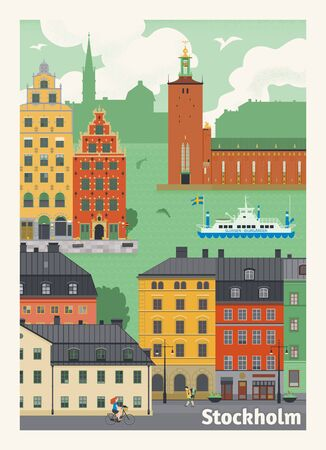 Stockholm vector poster