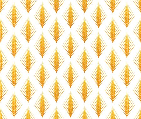 Cereal ears vector seamless pattern Illustration
