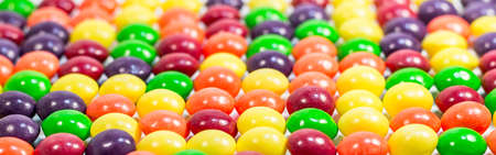 Multi colored pills or bubbles background close up Stock Photo