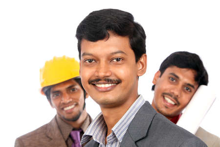 Young indian architects posing to the camera,  Stock Photo - 12176832