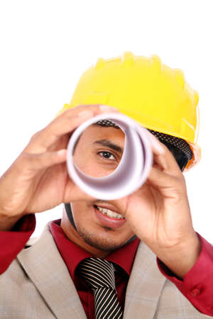 Young indian architect posing to the camera,  Stock Photo - 12176834