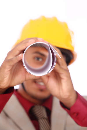 Young indian architect posing to the camera, Stock Photo - 12176831