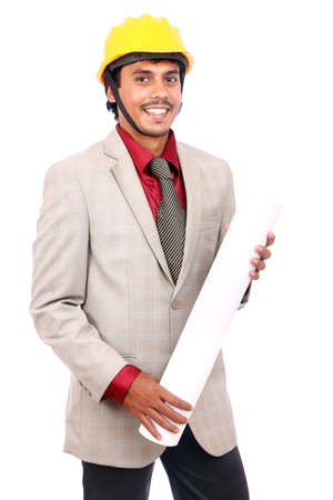 Young indian architect posing to the camera, Stock Photo - 12176839