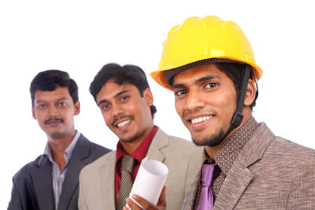 Young indian architects posing to the camera Stock Photo - 12204880