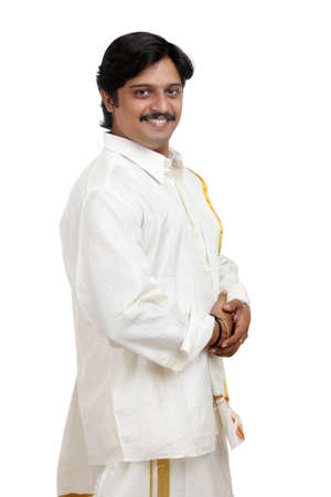 dhoti: Traditional Indian young man