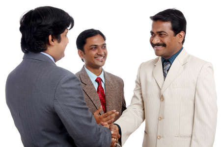 Indian business people posing to the camera.  Stock Photo - 12176610