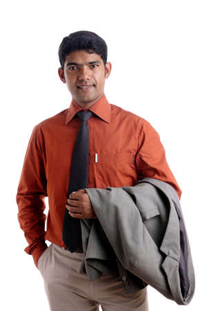 Indian business man posing to the camera.  Stock Photo - 12176604