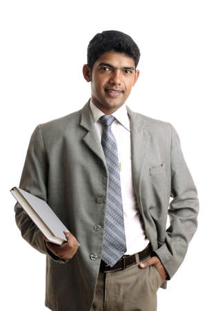 confident man: Indian business man posing to the camera.  Stock Photo
