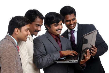 one to one meeting: Indian business people posing to the camera.