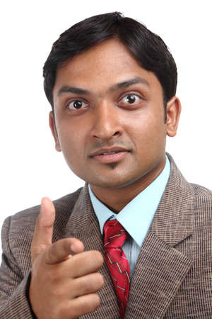 Indian business man portrait with expression. Stock Photo - 12176470