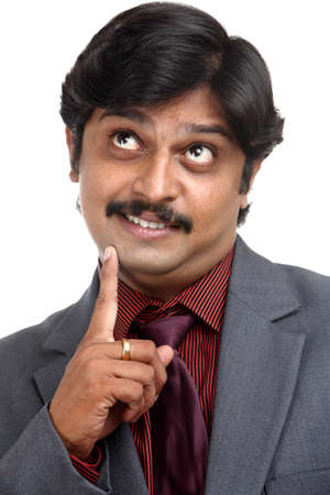 Indian business man portrait with expression. photo