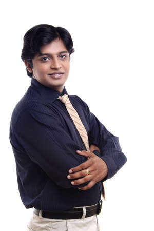 indian male: Indian business man posing to the camera.  Stock Photo