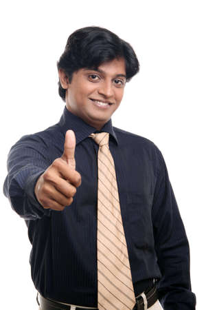 Indian business man posing to the camera.  photo