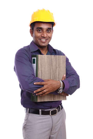 Young indian architect posing to the camera Stock Photo - 12223477