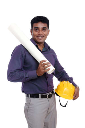 Young indian architect posing to the camera Stock Photo - 12223433
