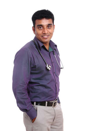 Indian doctor isolated on white background  photo