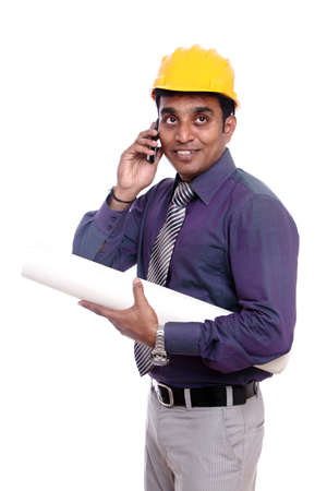 Young indian architect posing to the camera Stock Photo - 12223467