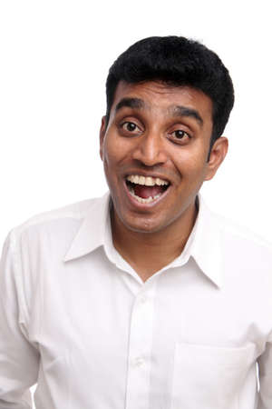 laughing Indian young businessman  Stock Photo - 12223386