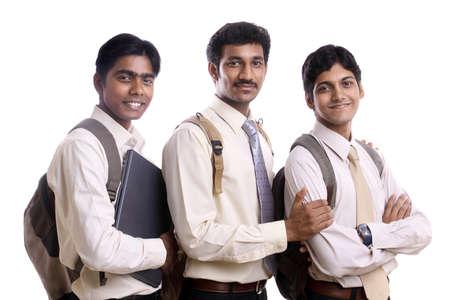 studenti universit�: Collage studenti indiani che presentano alla telecamera. Archivio Fotografico