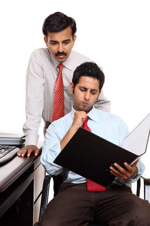 Two Indian businessman in the office  photo