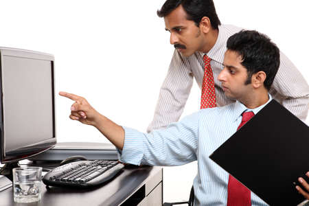 Two Indian businessman in the office Stock Photo - 12223576