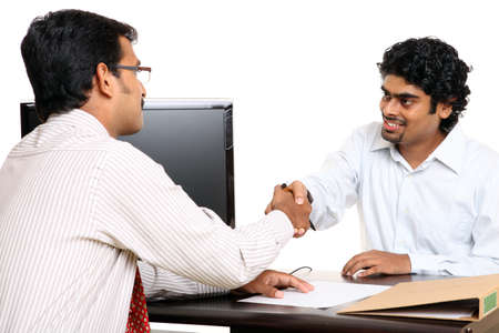 Indian young business people working in the office Stock Photo - 12224857