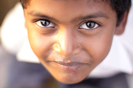 indian boy: Indian little boy looking at the camera.