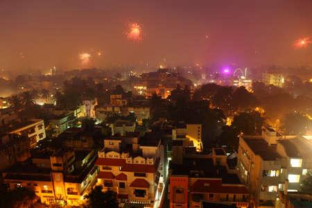 Chennai city at Diwali night,Tamil nadu, India.