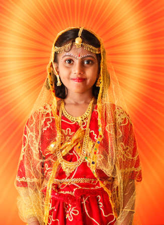traditionally indian: Indian girl with Radhai make up