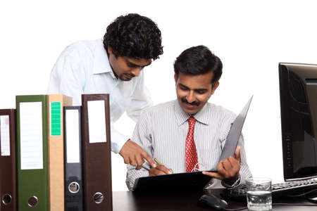 Indian young business people working in the office  Stock Photo - 12224864