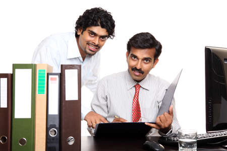 Indian young business people working in the office  photo