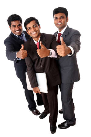 formal attire: A Successful Indian business team isolated on white.  Stock Photo