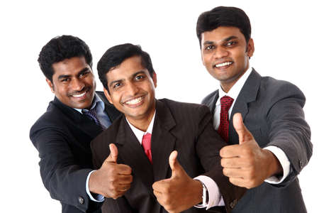 A Successful Indian business team isolated on white.  photo