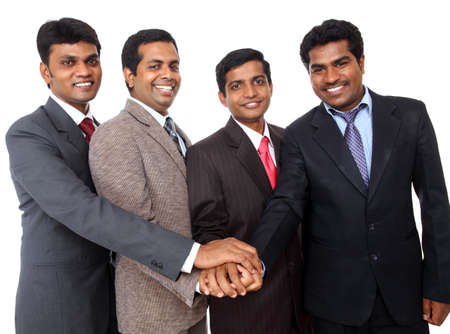 Indian business people showing them team cooperation.  photo
