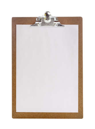 Clip board and papers  photo