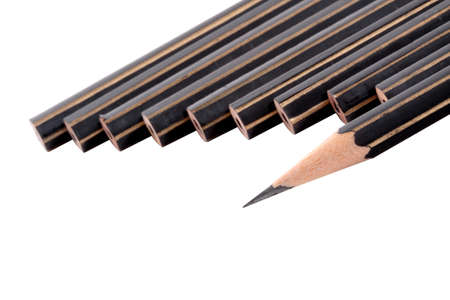 Bunch of pencils on white  photo