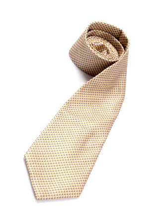 Tie white background isolated.  photo